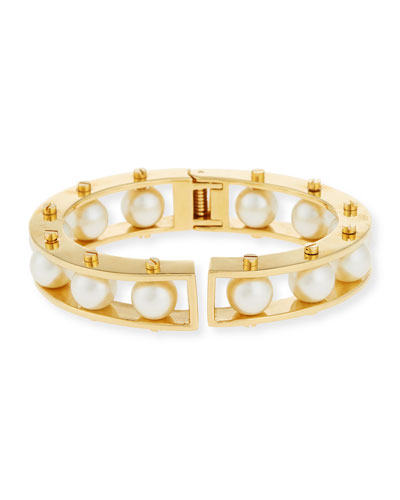 Pearly Hinged Slider Bracelet