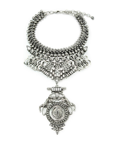 DYLANLEX Rory Jaguar Crystal Statement Necklace