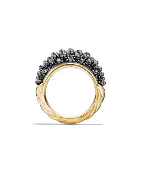 Osetra 18K Faceted Hematine Dome Ring
