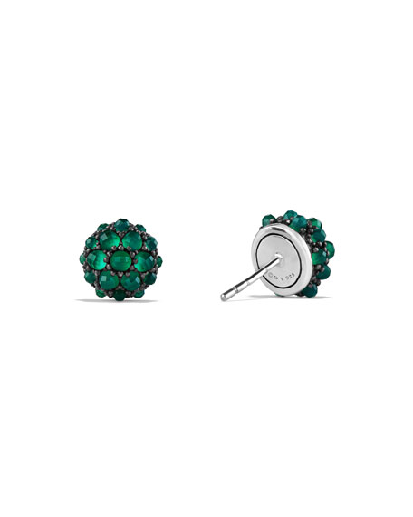 Osetra Green Onyx Stud Earrings