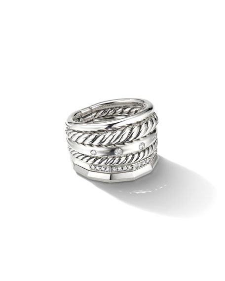 David Yurman 16mm Stax Wide Stacked Ring with