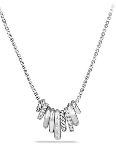 David Yurman Stax Small Multi-Pendant Necklace with Diamonds