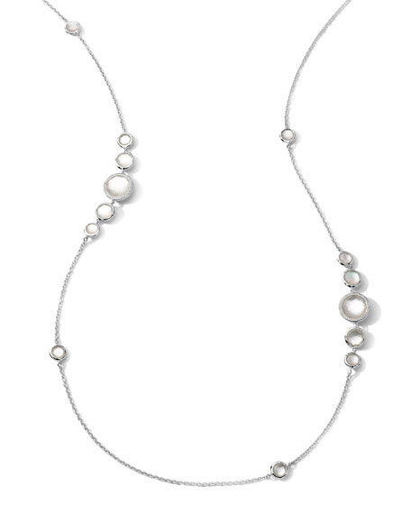 Ippolita Stella Mother-of-Pearl & Diamond Station Necklace, 37