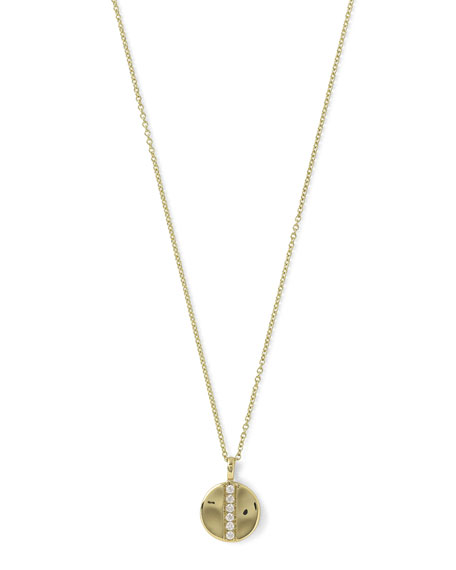 Ippolita18K Glamazon Mini Disc Pendant Necklace with Diamonds