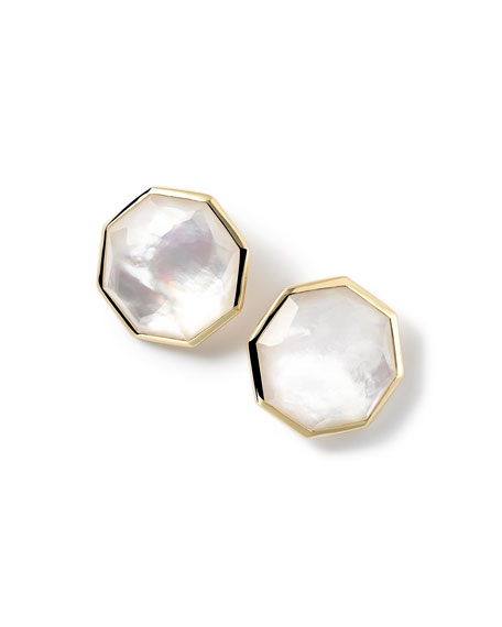 Ippolita 18K Rock Candy Mother-of-Pearl Clip-On Button Earrings