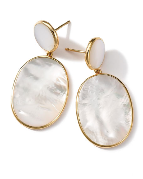 Ippolita 18K Rock Candy Mother-of-Pearl Snowman Earrings