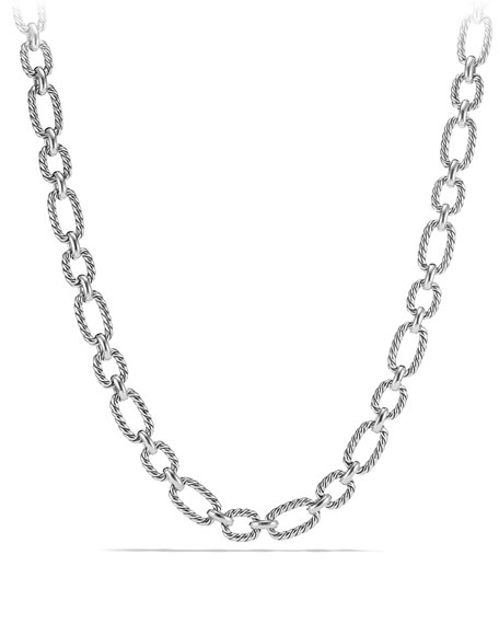 12.5mm Cushion Link Chain Necklace, 18""