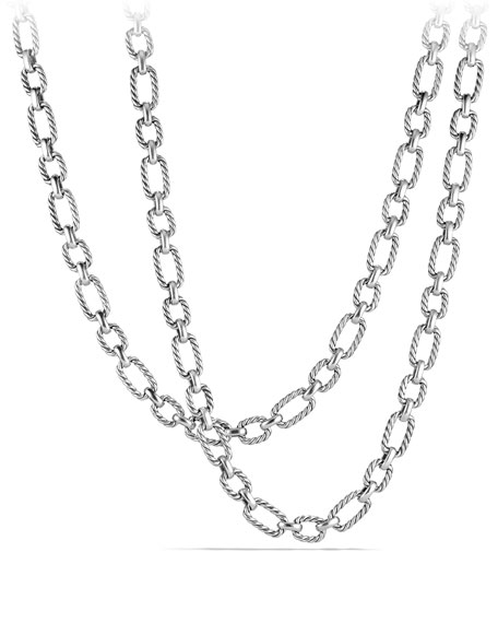 9.5mm Cushion Link Chain Necklace, 36""