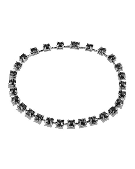 9mm Châtelaine Linear Hematine Necklace with Diamonds