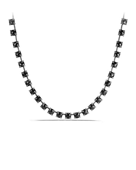 David Yurman 9mm Châtelaine Linear Hematine Necklace with