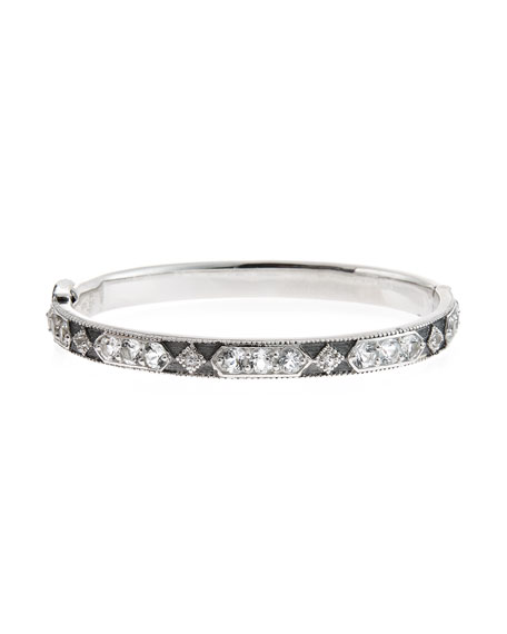 JudeFrances Jewelry Encore Lisse White Topaz Bangle