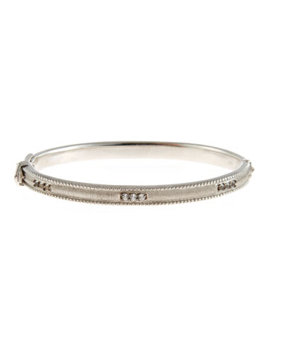 Simple Lisse Bangle with White Topaz