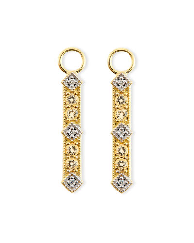 Lisse Champagne Citrine & Diamond Charms for Earrings