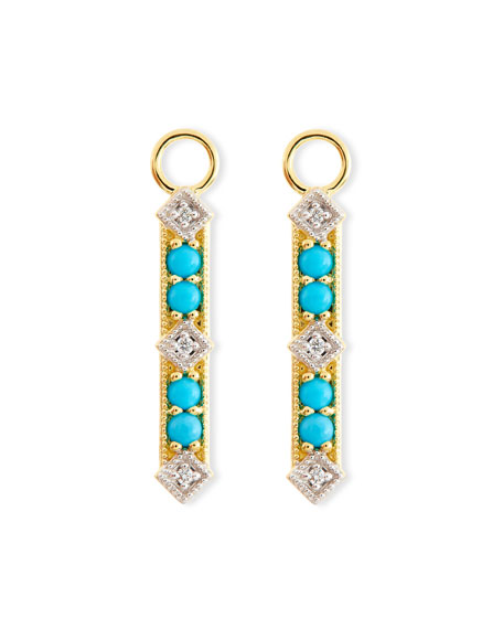 Lisse Turquoise & Diamond Charms for Earrings