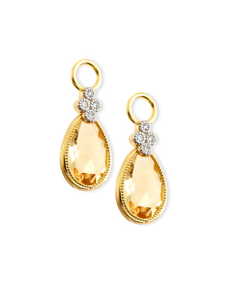 JudeFrances Jewelry Provence Pear Champagne Citrine Earring