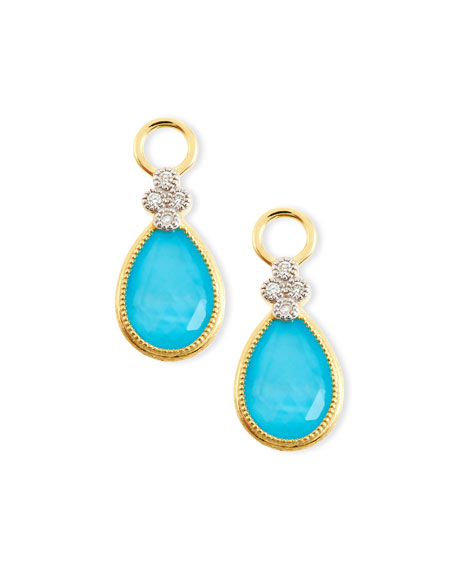 JudeFrances JewelryProvence Pear Turquoise Doublet Earring Charms