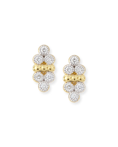 Jude Frances Provence Double-Trio Diamond Stud Earrings