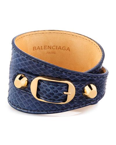 Classic Snakeskin Wrap Bracelet