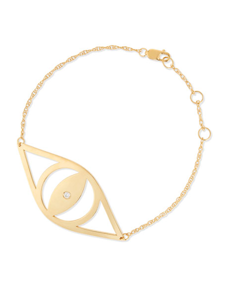 Jennifer Zeuner Alba Evil Eye Bracelet with Diamond