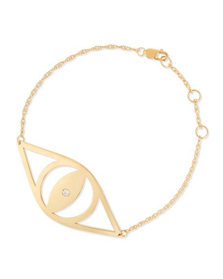 Jennifer Zeuner Alba Evil Eye Bracelet with Diamond
