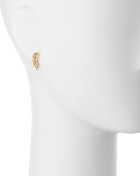Hollis Marquise White Sapphire Cuff Earrings