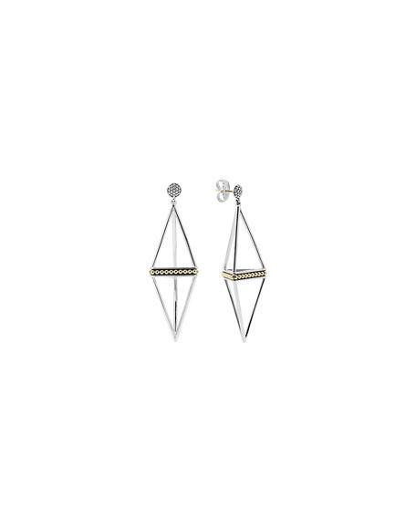 KSL 18K & Sterling Silver Pyramid Drop Earrings, 60mm