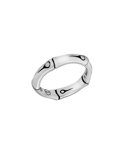Bamboo Sterling Silver Ring, Size 7