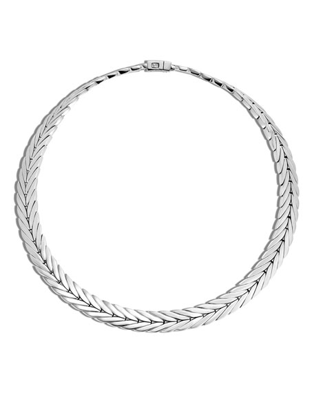 John Hardy 8mm Sterling Silver Collar Necklace, 18