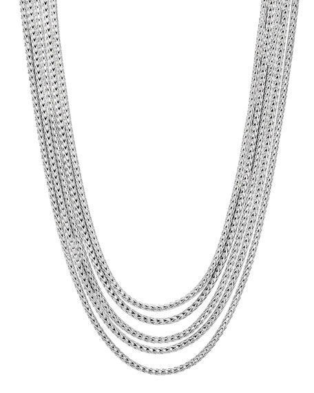 Classic Chain Five-Row Necklace, 16-18""