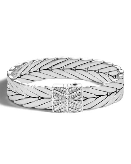 John Hardy Modern Chain Silver 13mm Rectangular Bracelet
