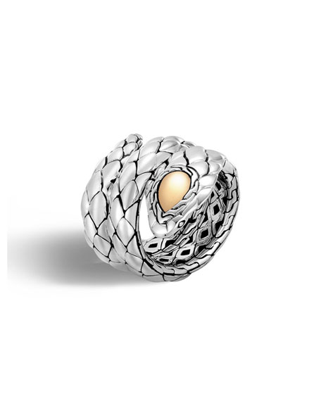 John Hardy Legends Cobra Coil Ring, Size 7