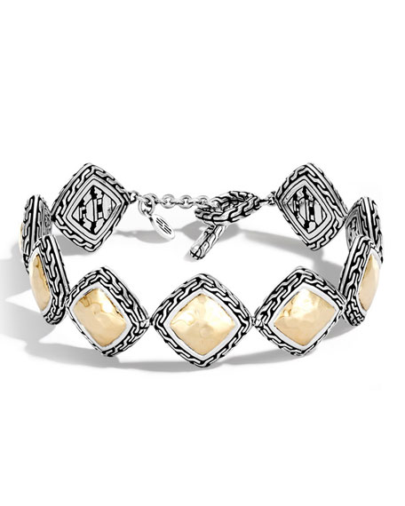 John Hardy Medium Classic Chain Heritage Quadrangle Bracelet
