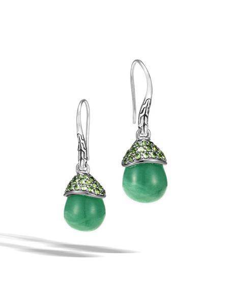 John Hardy Batu Green Jade Briolette & Tsavorite