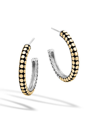 Dot Gold & Silver Small Hoop Earrings