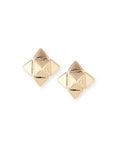 Bronze Rockstud Earrings