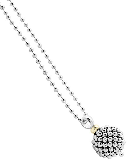 "Caviar Forever Ball Pendant Necklace, 34""L"