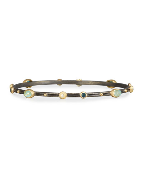 Armenta Old Word Midnight Turquoise & Quartz Bangle