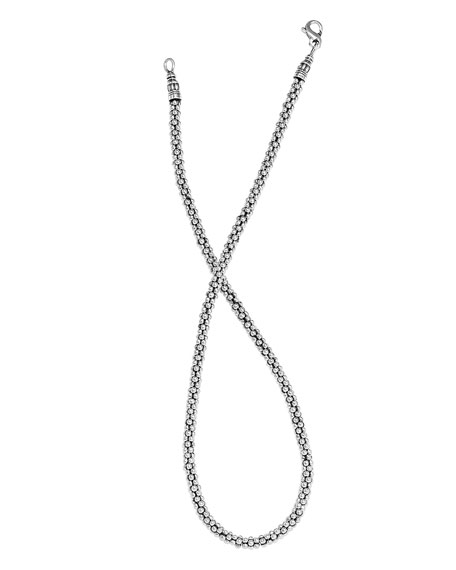"4mm Sterling Silver Rope Necklace, 18""L"