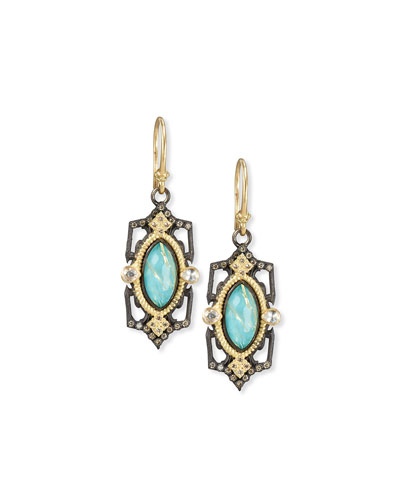 Old World Midnight Marquis Doublet Earrings