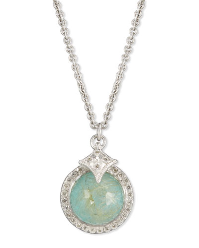 New World Doublet Pendant Necklace with Diamonds