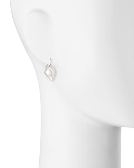 14K Small Pearl Drop Earrings