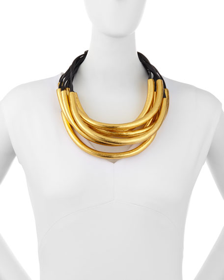 Seven-Strand Bar Necklace
