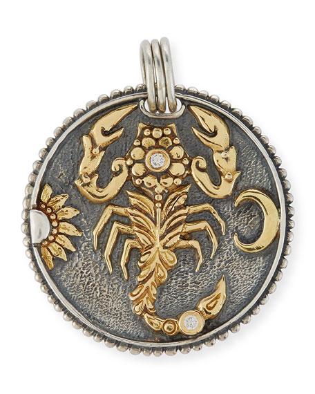 Konstantino scorpio carved zodiac pendant with diamonds neiman marcus scorpio carved zodiac pendant with diamonds mozeypictures Gallery