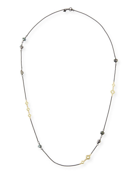 Old World Scroll Keshi Pearl Necklace, 36""