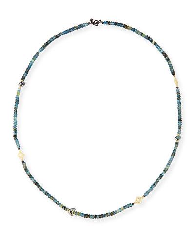 Old World Beaded Aquamarine & Keshi Pearl Necklace, 34