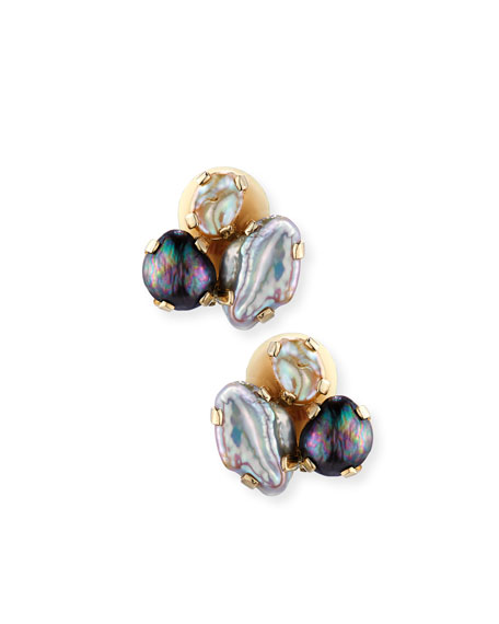 Stephen Dweck Baroque Pearl Cluster Earrings