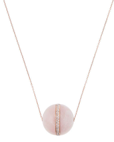 ROSE QUARTZ LONG PENDANT