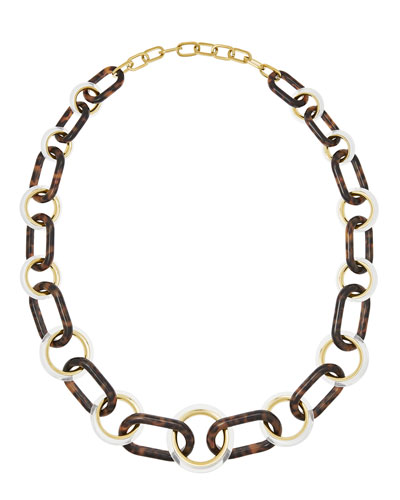Tortoiseshell Link Necklace