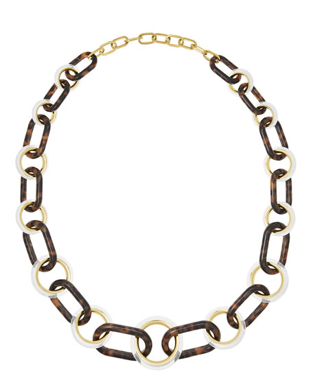 Michael Kors Tortoiseshell Link Necklace