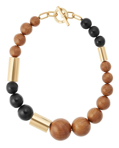 Wooden Mixed-Bead Necklace